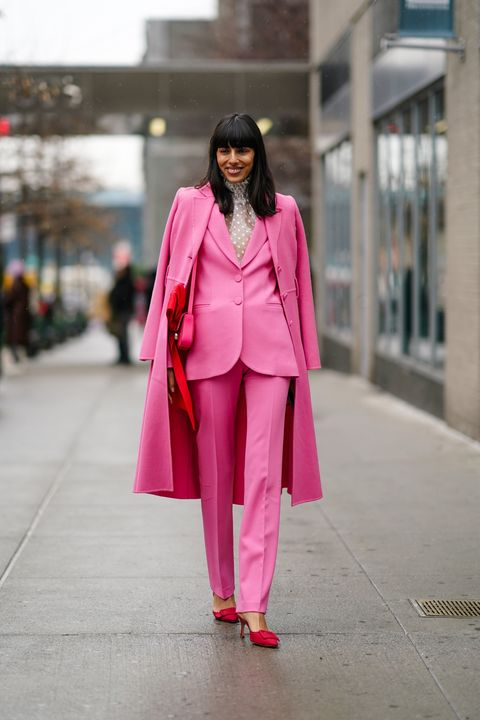 Clothing, Pink, Street fashion, Photograph, Fashion, Trench coat, Coat, Outerwear, Red, Snapshot,