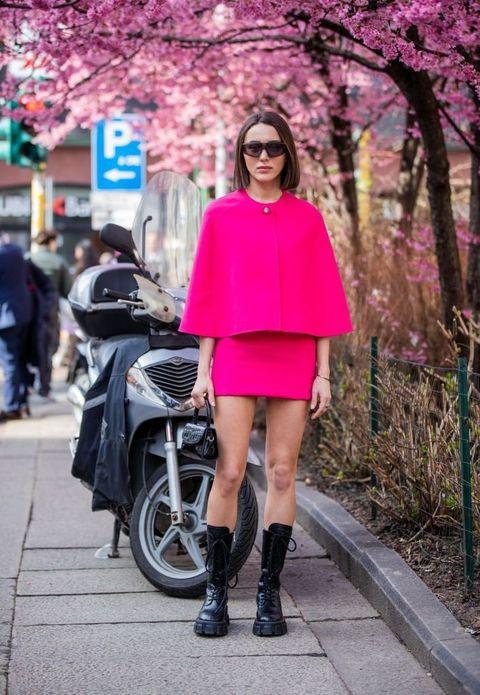 Pink, Street fashion, Photograph, Clothing, Fashion, Shoulder, Snapshot, Footwear, Joint, Magenta,