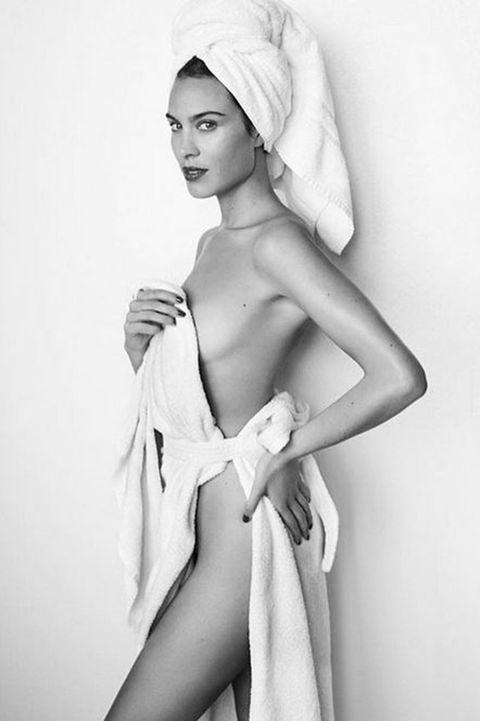 White, Beauty, Model, Fashion model, Photo shoot, Leg, Lip, Human leg, Arm, Shoulder,