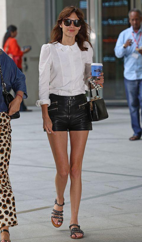 Clothing, White, Street fashion, Fashion, Denim, Jeans, Shorts, Fashion model, Waist, Leg,