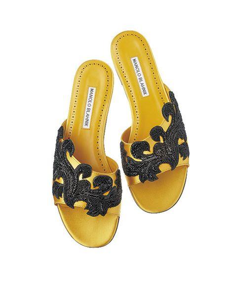 Footwear, Yellow, Product, Slipper, Shoe, Sandal, Flip-flops,