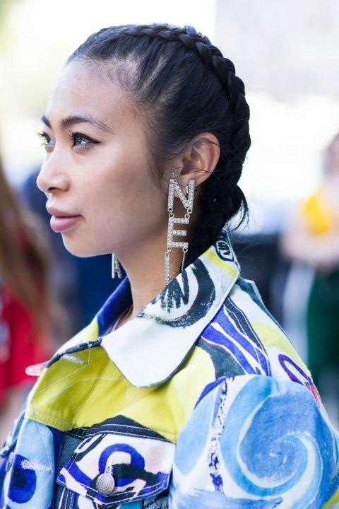 Hair, Hairstyle, Beauty, Ear, Street fashion, Electric blue,