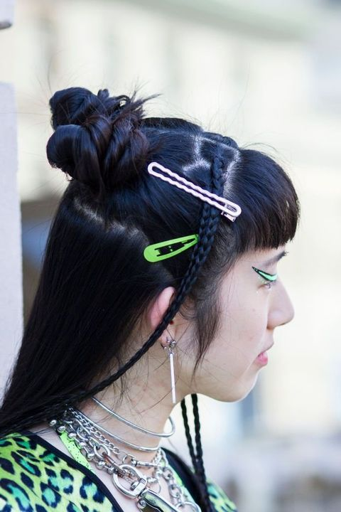 Hair, Hairstyle, Chignon, Black hair, Hair accessory, Long hair, Headgear, Fashion accessory, Hair tie, Hair coloring,