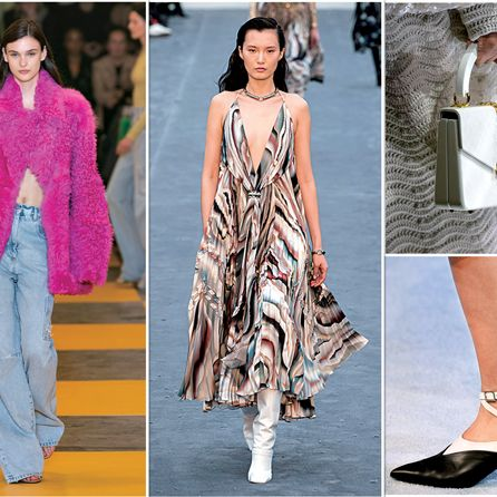 Fashion model, Fashion, Clothing, Street fashion, Pink, Runway, Footwear, Haute couture, Fashion show, Spring,