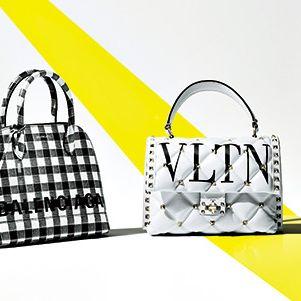 Bag, Handbag, Yellow, Fashion accessory, Design, Tote bag, Birkin bag, Pattern, Font, Plaid,