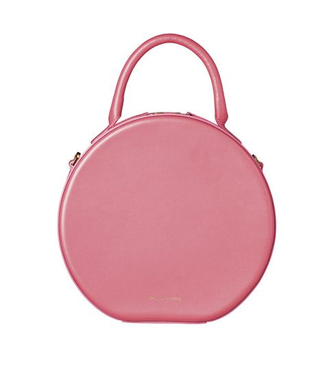 Pink, Bag, Handbag, Red, Magenta, Fashion accessory, Material property, Coin purse, Leather, Circle,