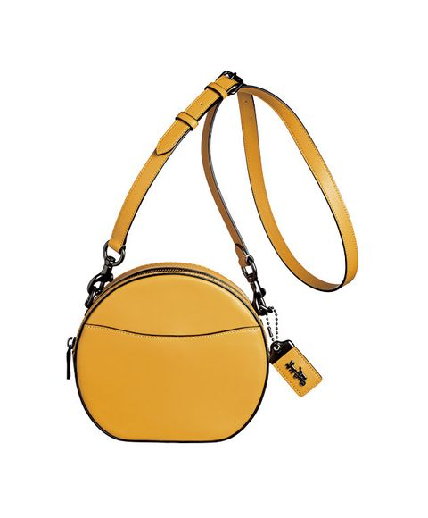Bag, Handbag, Yellow, Fashion accessory, Shoulder bag, Beige, Hobo bag, Luggage and bags, Coin purse, Circle,