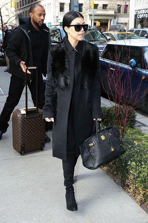 Street fashion, Fashion, Birkin bag, Bag, Tote bag, Snapshot, Outerwear, Footwear, Fur, Sunglasses,