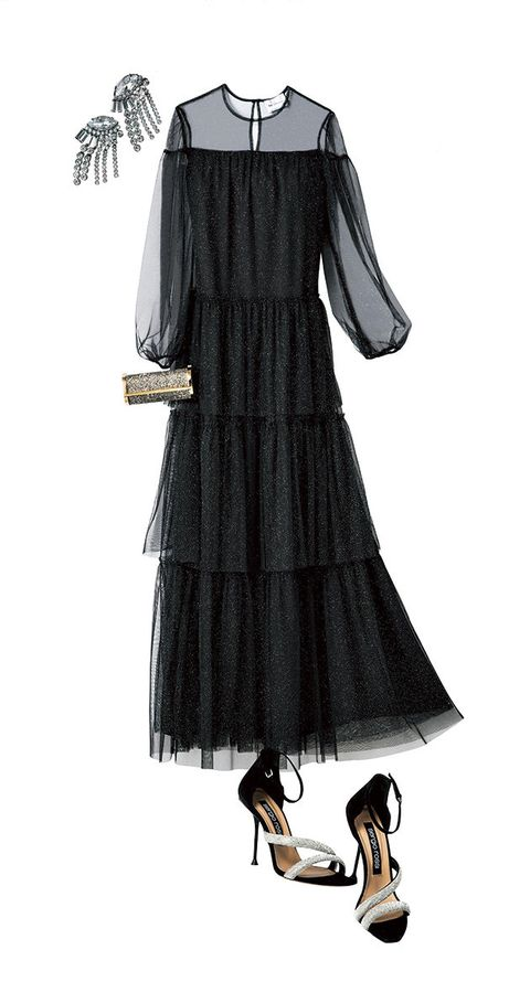 Clothing, Dress, Black, Day dress, Little black dress, Cocktail dress, Sleeve, Fashion, Victorian fashion, Costume design,
