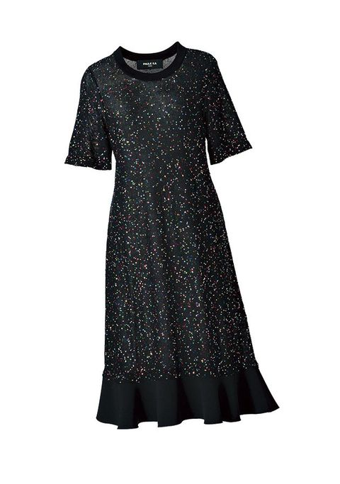 Clothing, Dress, Black, Day dress, Sleeve, T-shirt, Cocktail dress, Little black dress, A-line, Pattern,