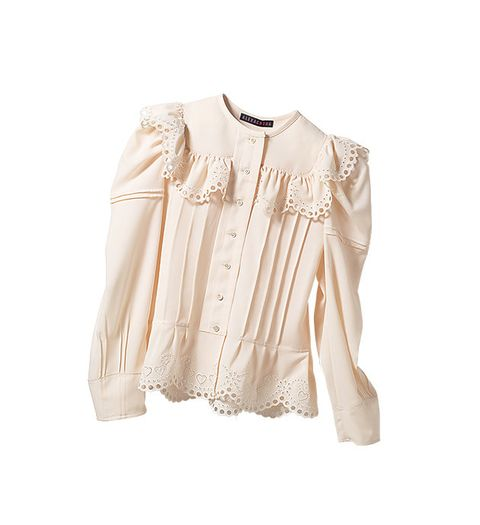 Clothing, White, Sleeve, Beige, Outerwear, Blouse, Collar, Top, Shoulder, Shirt,