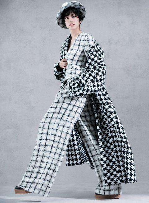 Clothing, Fashion model, Fashion, Pattern, Outerwear, Costume design, Design, Fashion design, Photography, Dress,