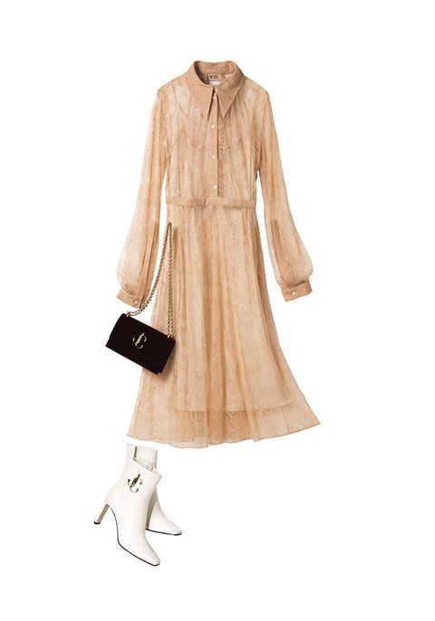 Clothing, White, Beige, Sleeve, Outerwear, Dress, Trench coat, Footwear, Collar, Neck,