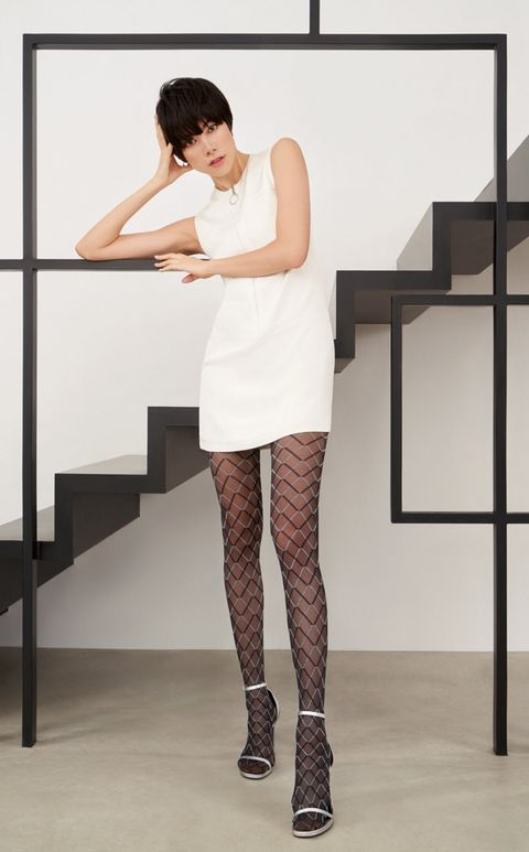 Clothing, Stocking, Leg, Tights, Beauty, Shoulder, Fashion, Footwear, Joint, Dress,