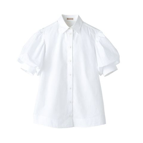White, Clothing, Sleeve, Collar, Shirt, Button, Outerwear, Blouse, Dress shirt, Top,