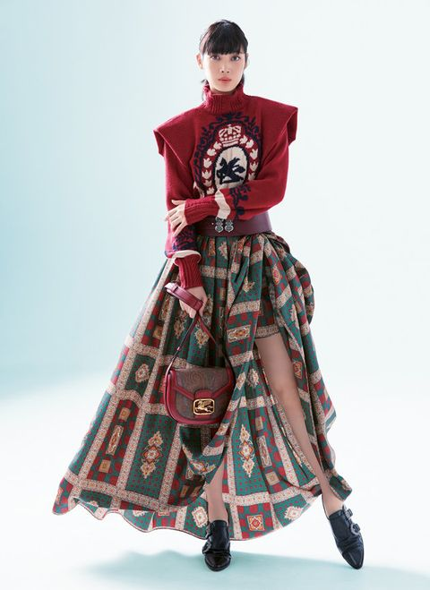 Clothing, Fashion, Dress, Maroon, Waist, Sleeve, Fashion design, Pattern, Joint, Outerwear,