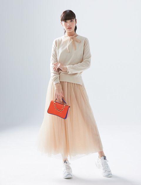 Clothing, White, Fashion model, Dress, Fashion, Sleeve, Neck, Beige, Shoulder, Outerwear,