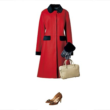 Clothing, Red, Trench coat, Coat, Outerwear, Footwear, Fashion, Overcoat, Sleeve, Collar,