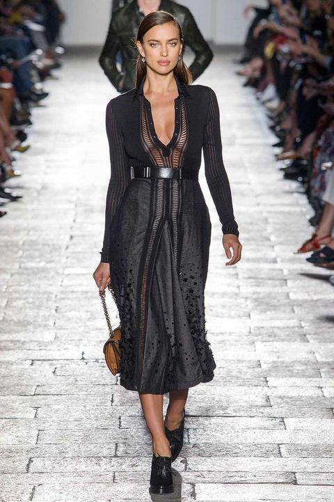 Clothing, Shoulder, Fashion show, Joint, Outerwear, Dress, Style, Fashion model, Street fashion, Fashion accessory,