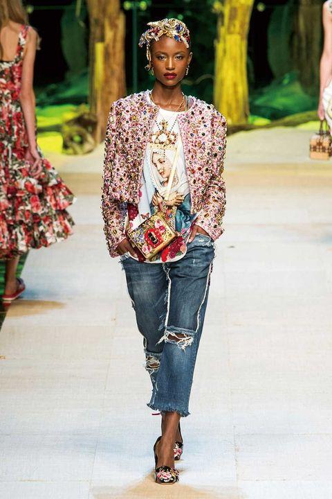 Clothing, Leg, Brown, Shoulder, Textile, Joint, Jeans, Style, Street fashion, Denim,