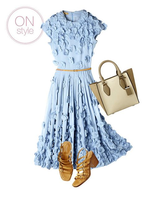 Blue, Product, Sleeve, Dress, Textile, White, Style, Pattern, One-piece garment, Fashion,