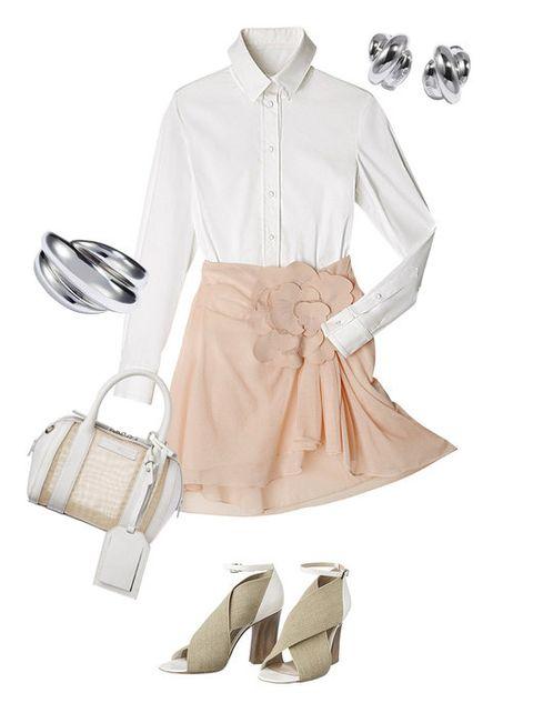 Product, Collar, Sleeve, Textile, White, Bag, Fashion, Khaki, Shoulder bag, Tan,