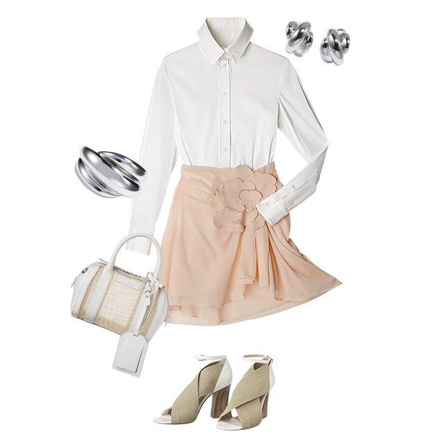 Product, Collar, Sleeve, Textile, Dress shirt, White, Bag, Khaki, Fashion, Pattern,