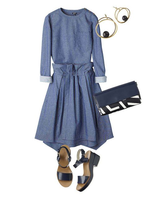 Blue, Sleeve, Dress, Style, Pattern, One-piece garment, Fashion, Electric blue, Cobalt blue, Beige,