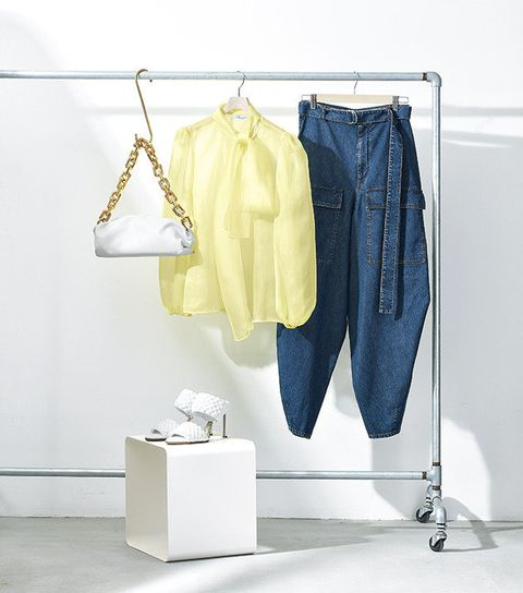 Clothes hanger, White, Clothing, Blue, Yellow, Room, Boutique, Wardrobe, Denim, Jeans,