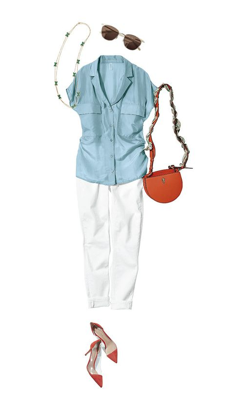 White, Clothing, Orange, Fashion illustration, Illustration, Footwear, Outerwear, Sleeve, Trousers, Jeans,