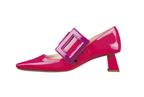 Footwear, High heels, Shoe, Pink, Magenta, Violet, Purple, Basic pump, Mary jane, Court shoe,