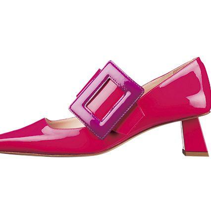 Footwear, High heels, Shoe, Pink, Magenta, Violet, Purple, Mary jane, Basic pump, Court shoe,