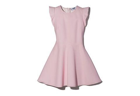 Dress, Sleeve, Textile, One-piece garment, Pink, Pattern, Day dress, Magenta, Lavender, Peach,