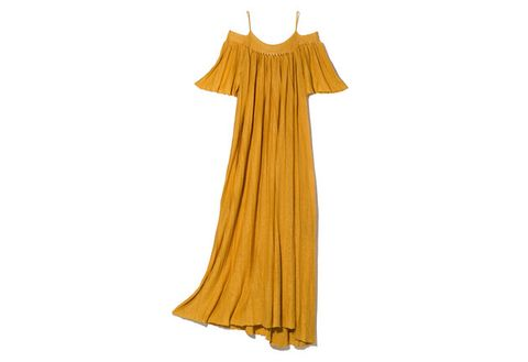 Clothing, Yellow, Dress, Outerwear, Costume, Gown,