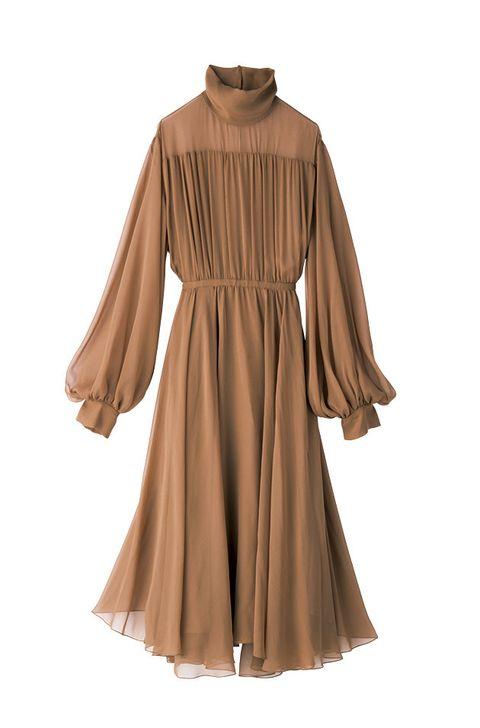 Brown, Sleeve, Textile, Dress, Collar, Tan, Fashion, One-piece garment, Khaki, Maroon,