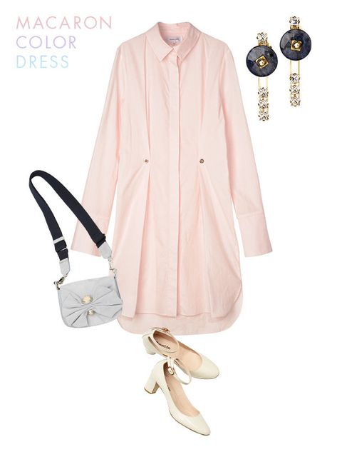 Clothing, Pink, Outerwear, Neck, Sleeve, Footwear, Peach, Blouse, Fashion accessory, Coat,