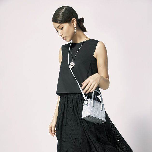 Clothing, Fashion model, White, Shoulder, Black, Waist, Dress, Fashion, Neck, Footwear,