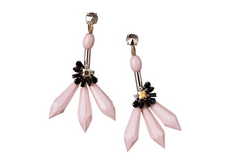 Earrings, Pink, Fashion accessory, Jewellery, Body jewelry, Plant, Gemstone, Wing,