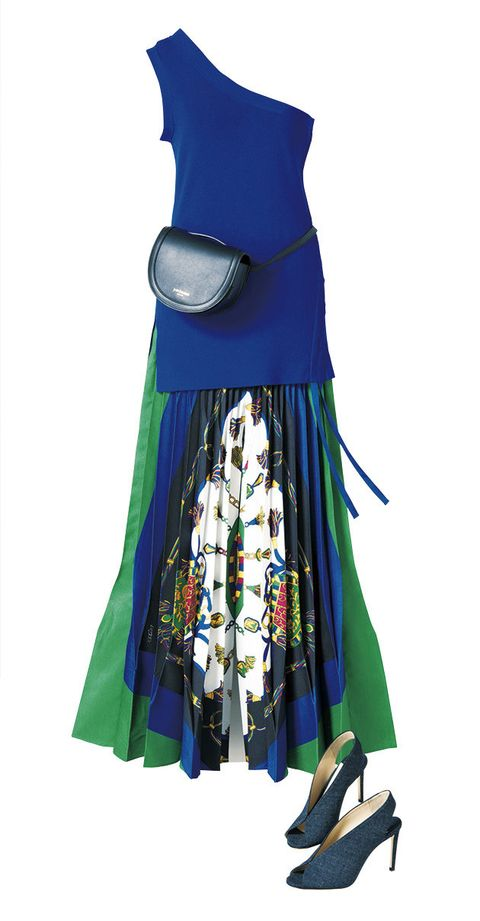 Clothing, Dress, Blue, Turquoise, Day dress, Outerwear, Costume, A-line, Costume accessory, Costume design,