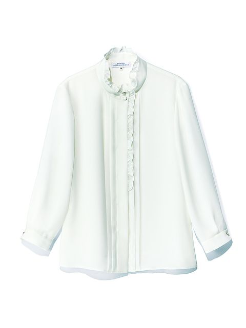 Clothing, White, Sleeve, Collar, Outerwear, Blouse, Neck, Top, Button, Shirt,