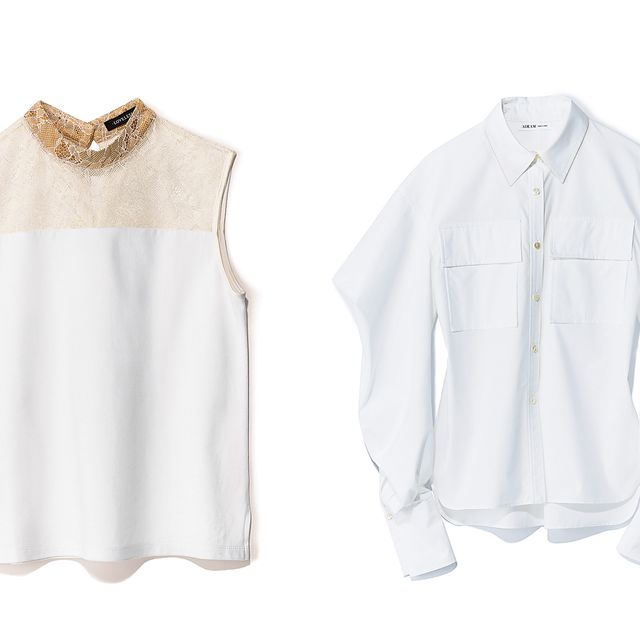 White, Clothing, Sleeve, Collar, Product, Blouse, Outerwear, Shirt, Neck, Beige,