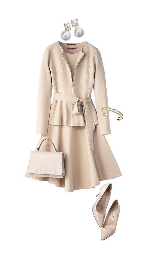 Clothing, Trench coat, Coat, Beige, Overcoat, Outerwear, Dress, Shoulder, Footwear, Collar,