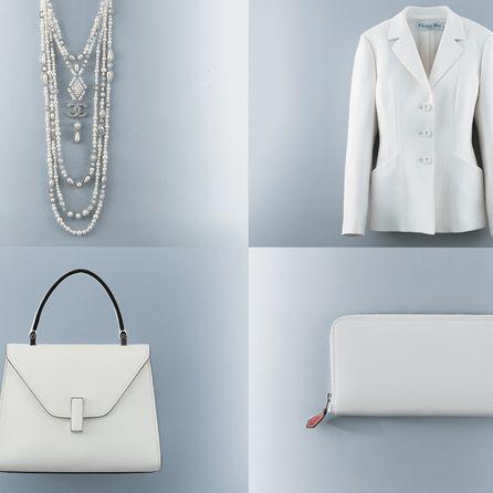 White, Clothing, Bag, Handbag, Fashion, Outerwear, Fashion accessory, Formal wear, Blazer, Suit,