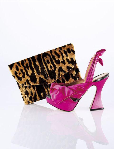 High heels, Footwear, Pink, Magenta, Shoe, Slingback, Basic pump, Fashion accessory, Court shoe, Wedge,