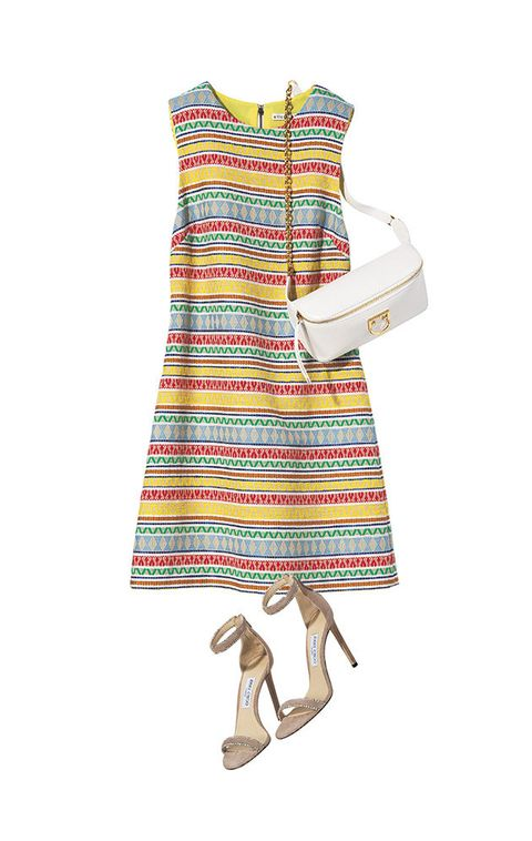Clothing, Day dress, Dress, White, Product, Footwear, Turquoise, Shoulder, Pattern, Pattern,