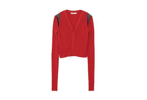 Clothing, Red, Outerwear, Sleeve, Sweater, Jersey, Cardigan, Sportswear, Jacket, Coat,