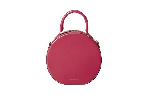 Bag, Handbag, Pink, Red, Magenta, Fashion accessory, Violet, Material property, Leather, Luggage and bags,