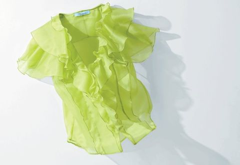 Green, Clothing, Yellow, Outerwear, Fashion accessory, Sleeve,