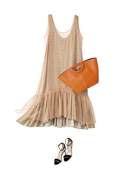 Clothing, White, Orange, Footwear, Beige, Tan, Shoe, Dress, Bag, Shoulder,
