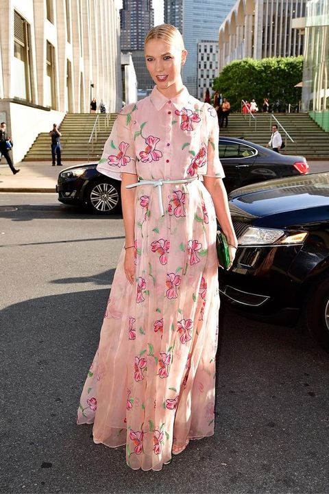 Clothing, Pink, Street fashion, Dress, Fashion, Shoulder, Costume, Haute couture, Peach, Formal wear,